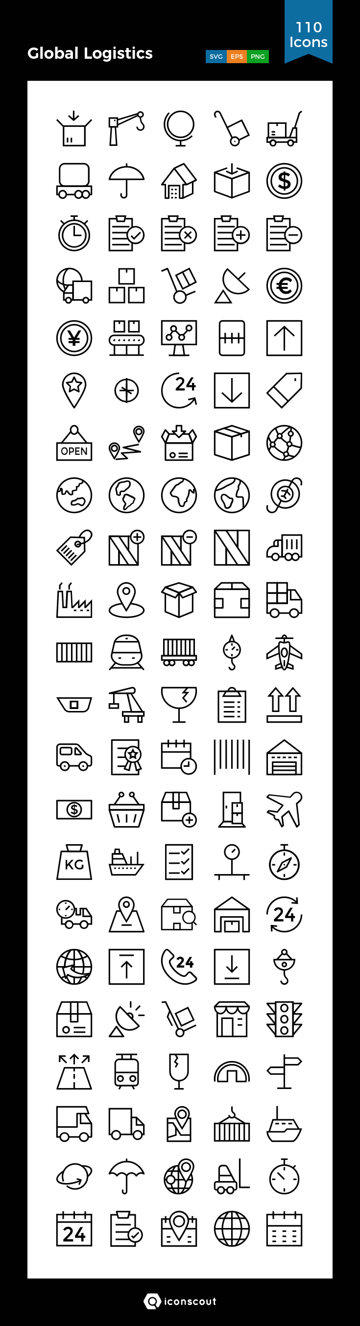 Download Global Logistics Icon Pack Available In Svg Png Eps Ai Icon Fonts Logistics Design Icon Text Graphics