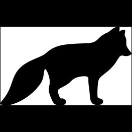 Arctic Fox Silhouette Fox Silhouette Arctic Fox Animal Silhouette