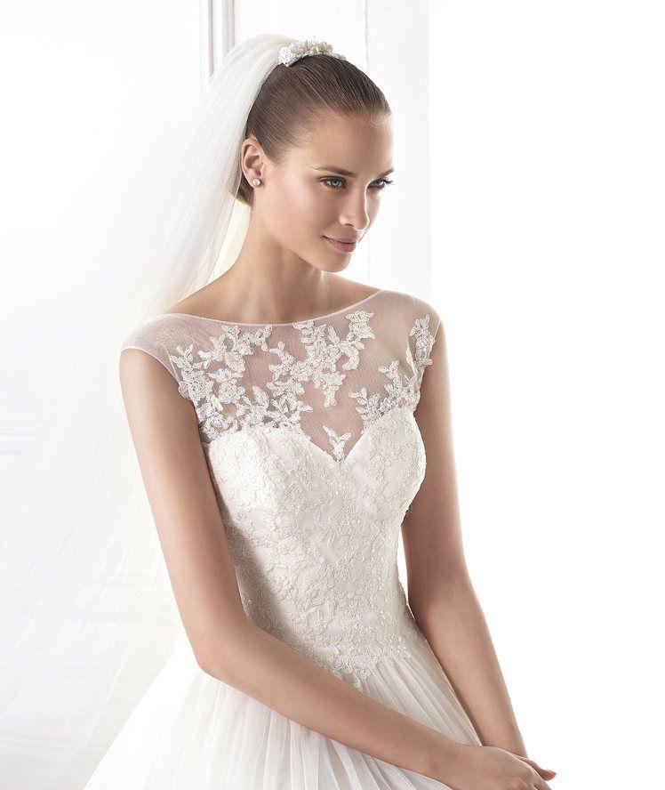 makeda - a-line wedding dress. pronovias 2015 | beautiful weddings