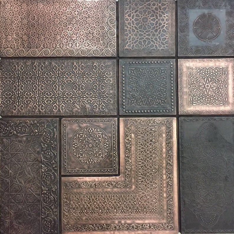Wall Panel Moroccan Combo Copper Brass Silver Etsy In 2020 Wall Paneling Moroccan Interiors Moroccan Decor Living Room
