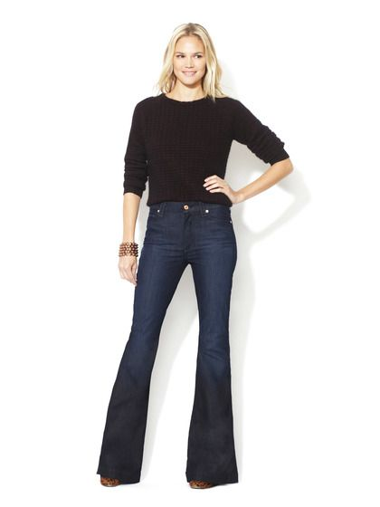 High-Waisted Flare Jean by 7 for All Mankind on Gilt.com