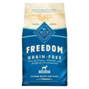 Blue Buffalo Freedom Senior Dog Food Grain Free Gluten Free Chicken Senior Dog Food Recipes Free Chicken Recipes Grain Free