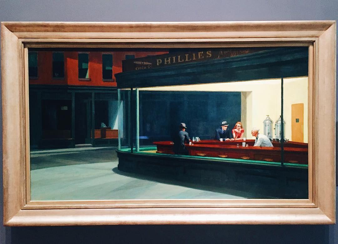 Edward Hopper Nighthawks Art Artistsoninstagram Artist Artwork Art Edwardhopper Diner Edward Hopper Edward Hopper Paintings Art Institute Of Chicago
