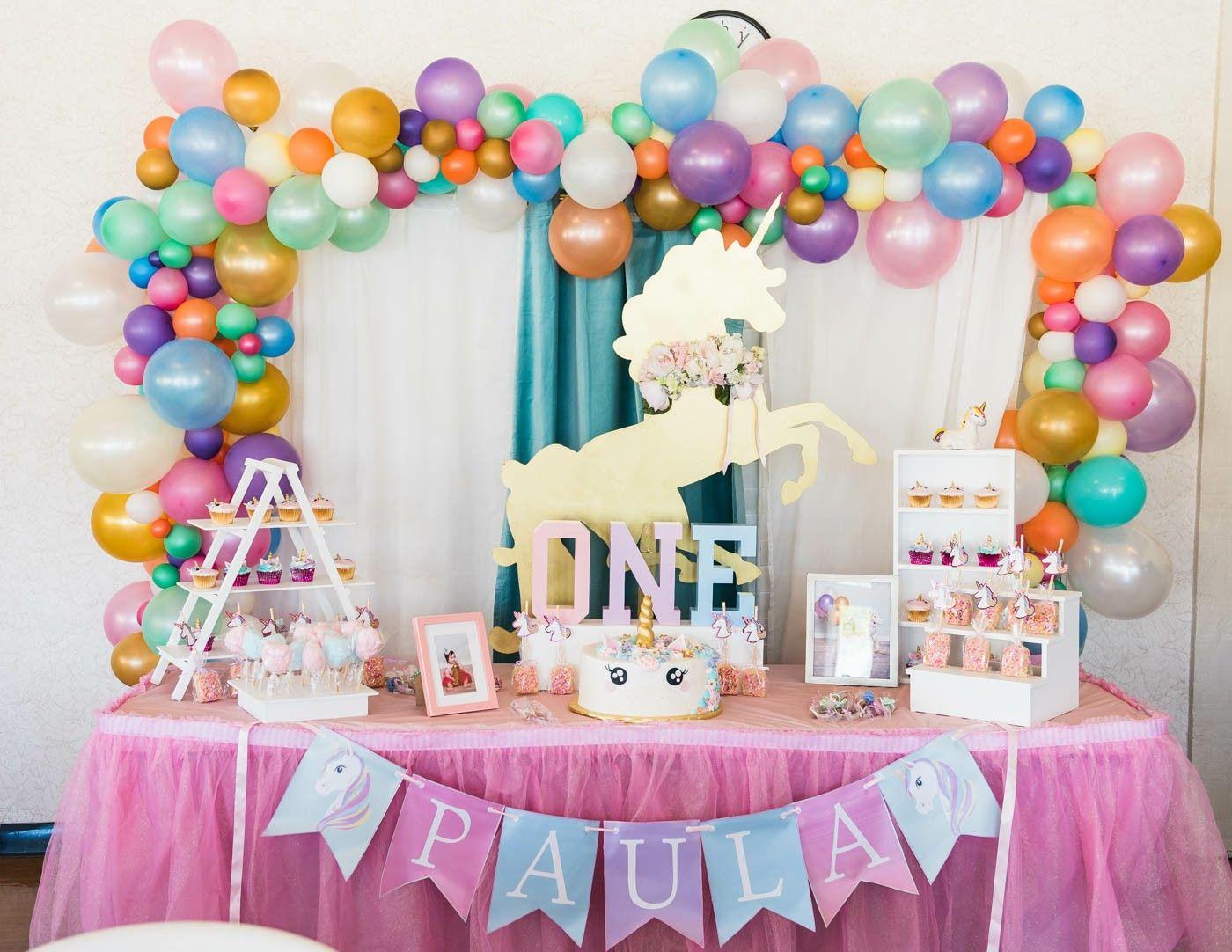 Paula 39 s unicorn 1st birthday party pinterest for Decoracion 15 anos unicornio