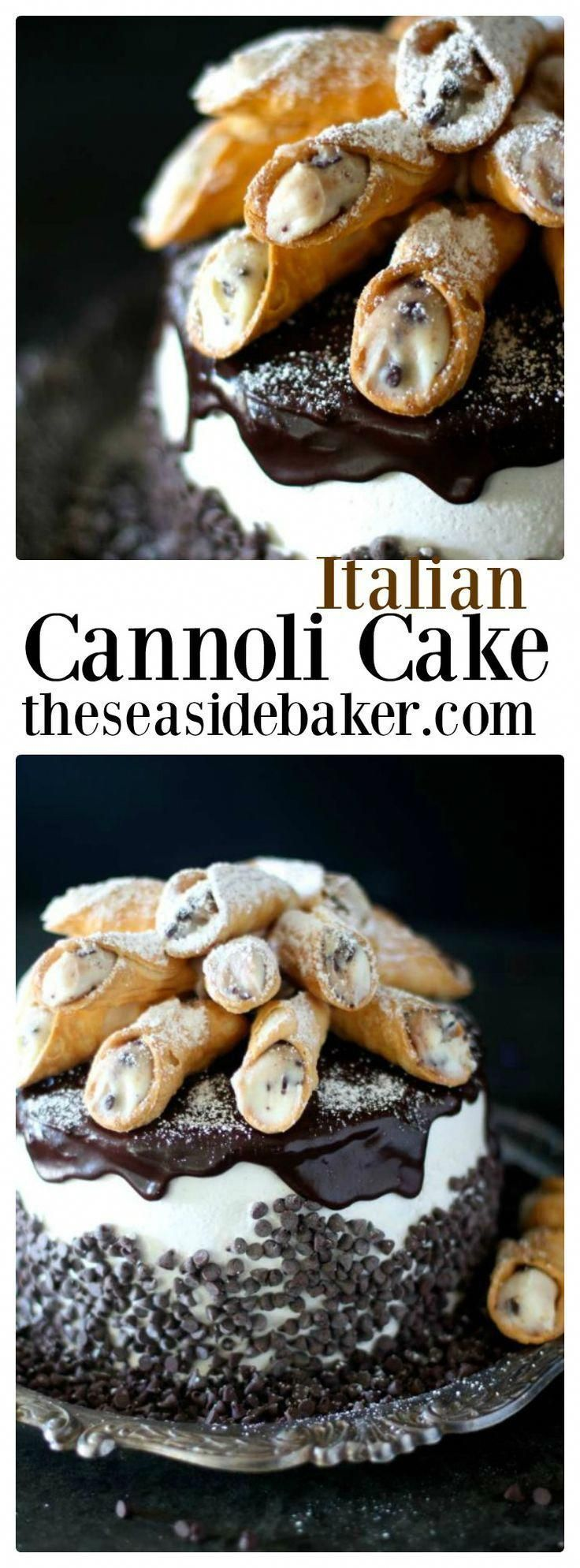 Italian Cannoli Cake - although not necessarily a #valentinesday recipe, anythin... - #although #anythin #cannoli #italian #necessarily #recipe #valentinesday - #ItalianDesserts