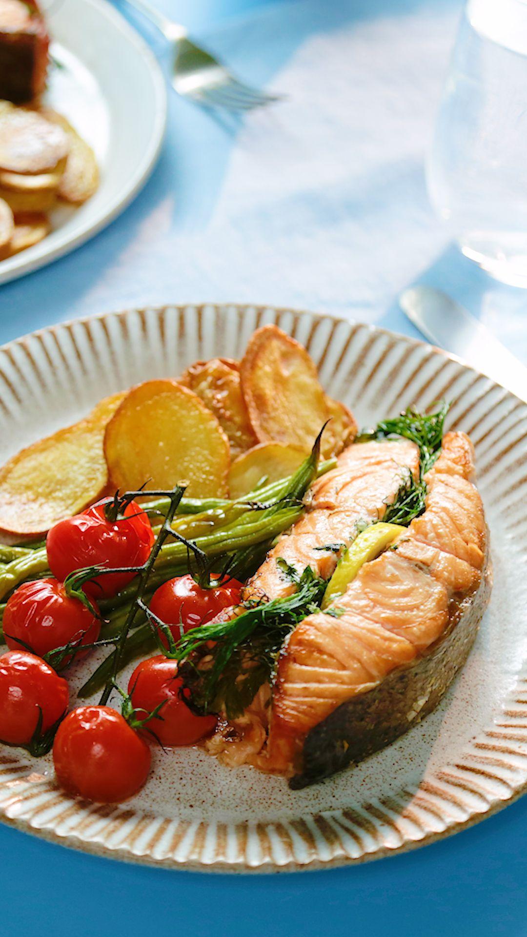 Herb Baked Salmon Recipe Baked Salmon Salmon Dinner Seared Salmon Recipes