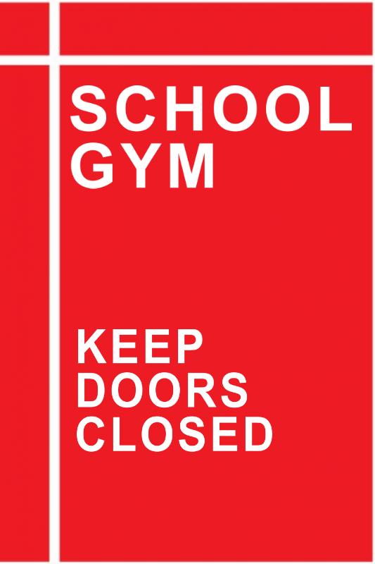 Custom School Gym Directional