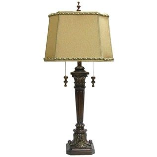 35 lamp with double pull chain gold square shade shop hobby 35 lamp with double pull chain gold square shade shop hobby lobby aloadofball Image collections