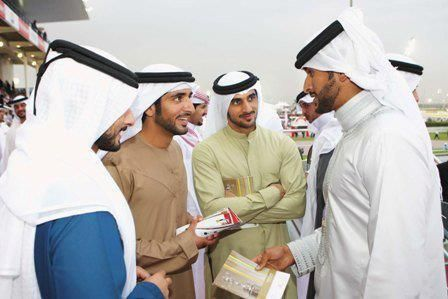 Majid bin Mohammed bin Rashid Al Maktoum, Hamdan bin Mohammed bin Rashid Al Maktoum, Rashid bin Mohammed bin Rashid Al Maktoum y Nasser bin Hamad bin Isa Al Khalifa, 2010