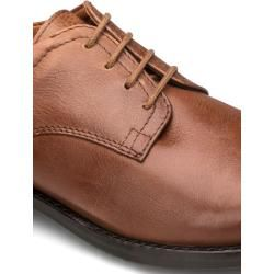 Photo of Walbusch men lace-up shoe brown solid color removable insole Walbusch