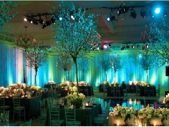 Blue Green Ombre Wedding With Gold Bronze Champagne Accents