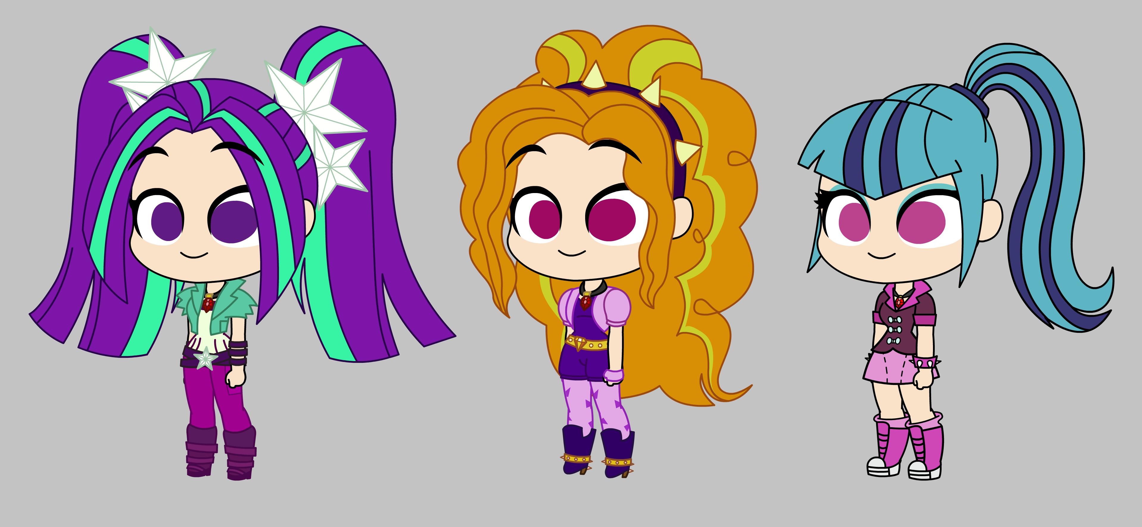#1022739 - adagio dazzle, aria blaze, artist:kanduli, cute, equestria girls, safe, sonata dusk, the dazzlings - Derpibooru - My Little Pony: Friendship is Magic Imageboard