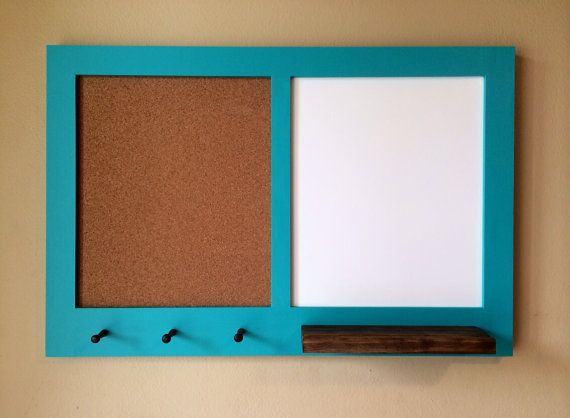Framed Hanging Corkboard And Whiteboard By Countrymadememories