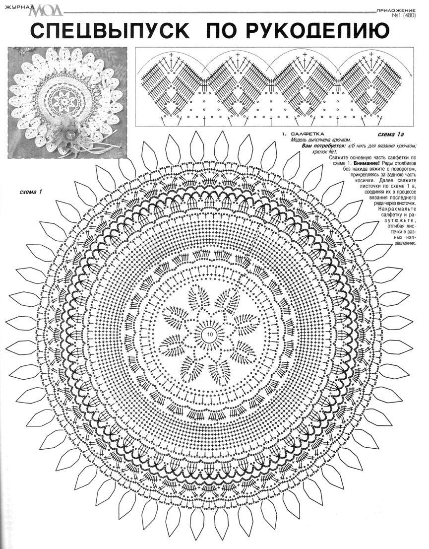049.jpg 865×1.106 píxeles | Crochet Mandala | Pinterest | Deckchen ...