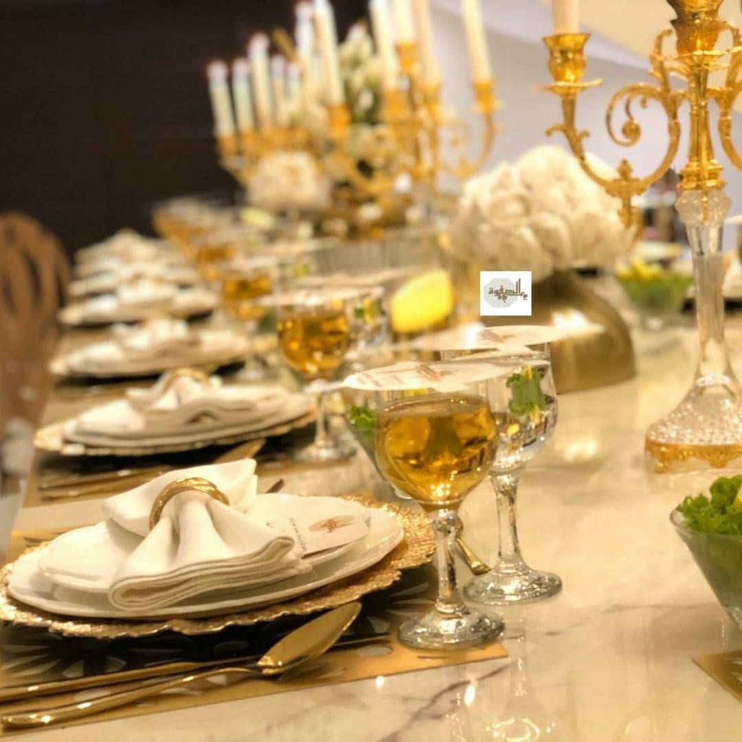 بوفيه الصفوة الرياض الصفوه كوزين لذيذ مميز مطاعم مناسبات راقي حفلات حلويات Riyadhfood Instafood Food اكلات Table Decorations Decor Food