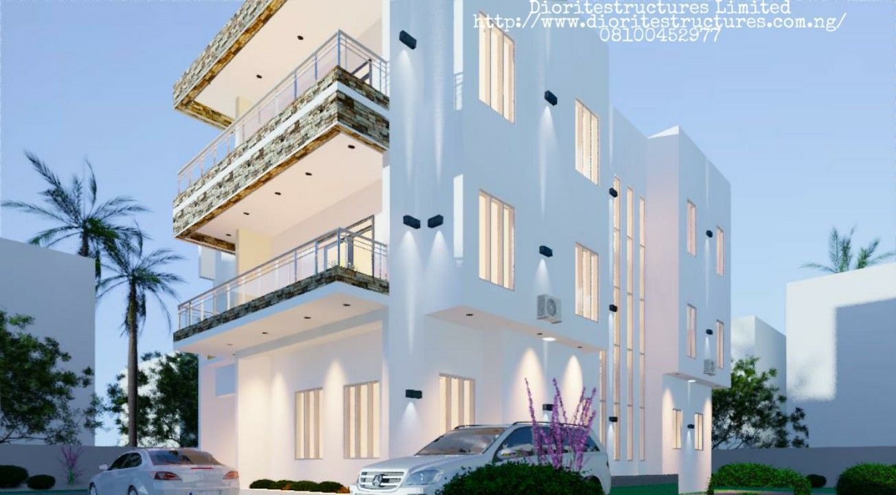 Contemporary 5bedroom Duplex Building design