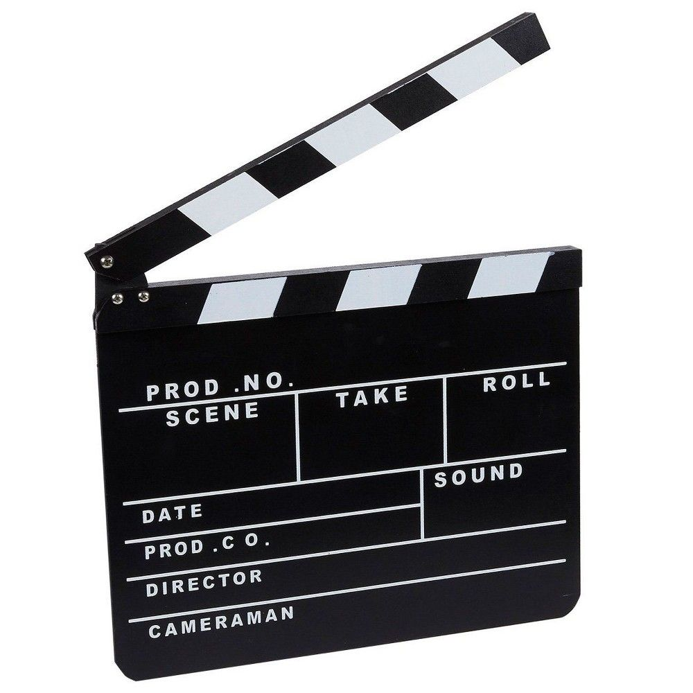 Clapper Board Prop For Film Movie Director Slate Black Clapboard 1 Pack In 2021 Movie Director Hollywood Party Theme Film Director