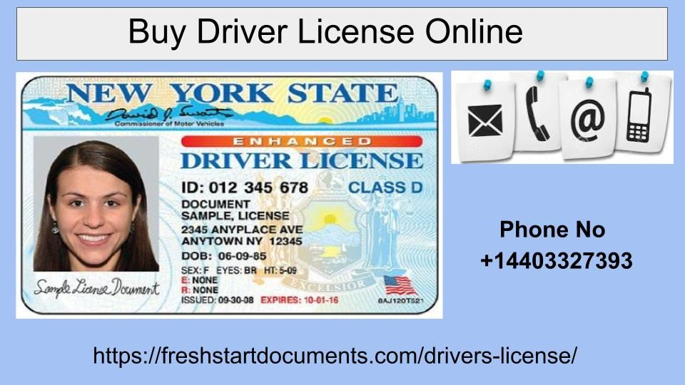 Are you looking to Buy Drivers License Online? If yes then