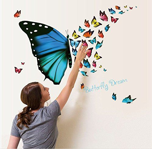 Butterfly Wall Stickers Sweet Dreams Decals DIY For Bedroom Decorate Removable