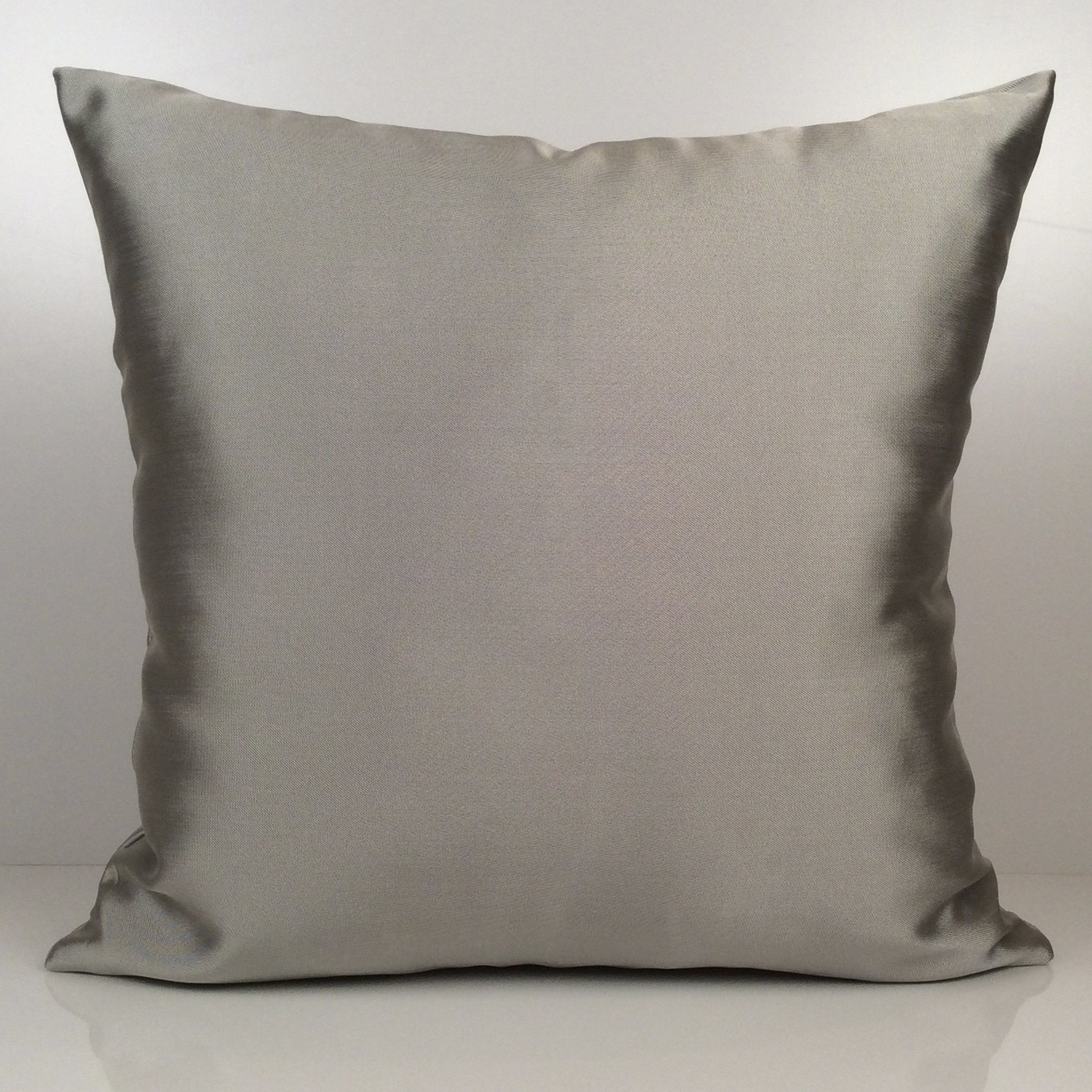 Solid silver pillow cover throw pillow cover decorative pillow