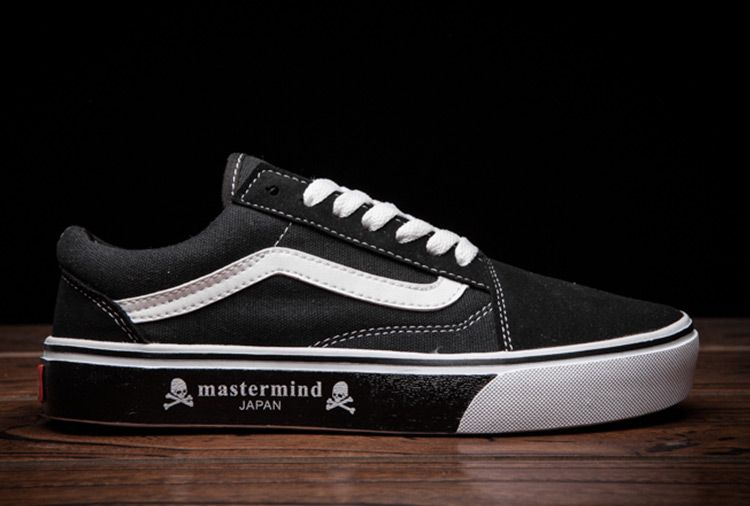 Vans Old Skool x Mastermind JAPAN Black Canvas Skate Shoes  Vans ... 5b7ccc1a305