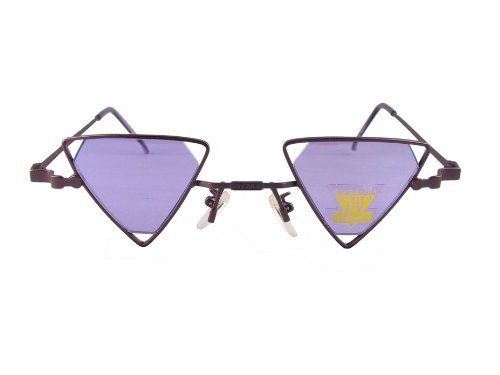 e1a2c5d4478 Gothic Steampunk Diamond Shaped Lens Triangle Sunglasses (Purple) Sun  Revival.  10.99