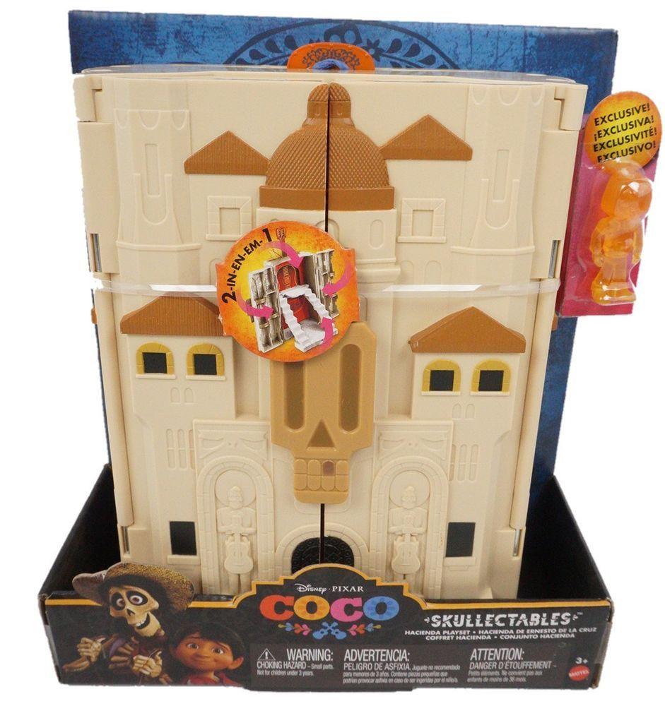 Disney Coco Skullectables Hacienda Mini Figure Playset and Collector Case Toy