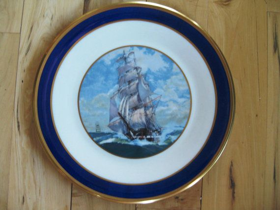 Lenox Special Clipper Ship Dinner Plate Near Mint by ChinaGalore $45.00 & Lenox Special Clipper Ship Dinner Plate Near Mint Lenox Cobalt Gold ...
