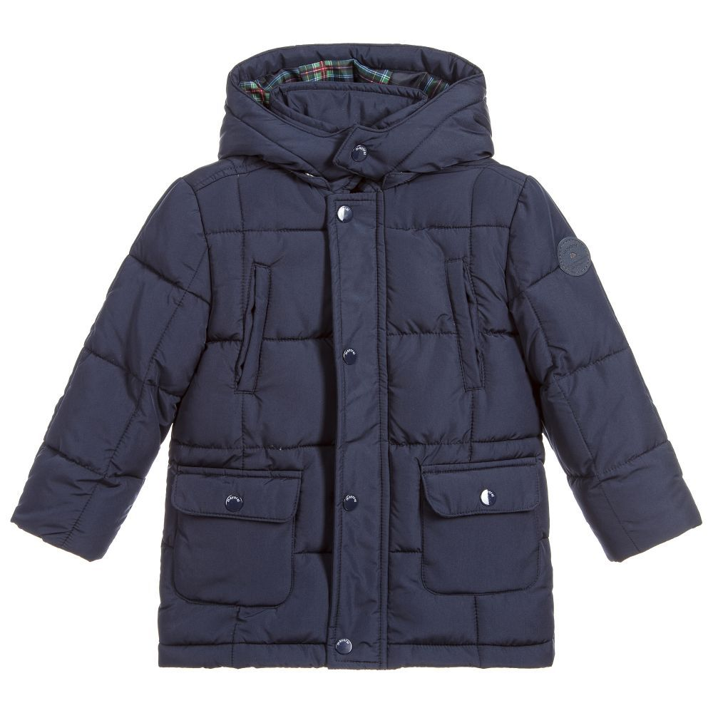 a3d16e40c3e5 Boys Blue Padded Coat for Boy by Mayoral. Discover the latest ...