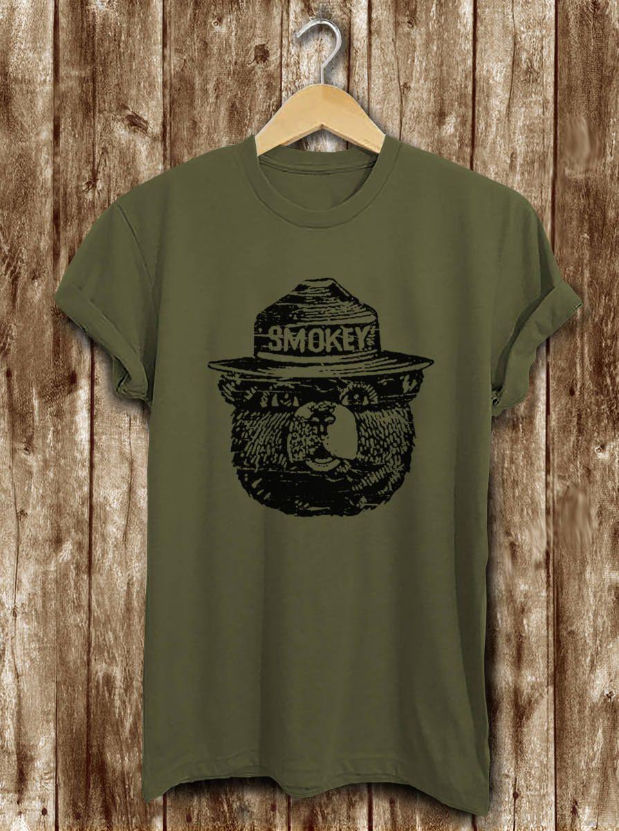 smokey bear t-shirts vintage
