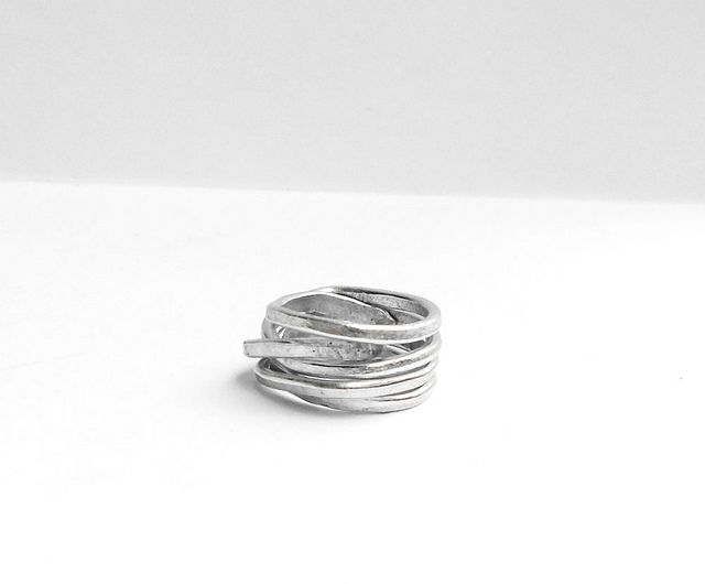 Anello Wire Wrapped in Alluminio