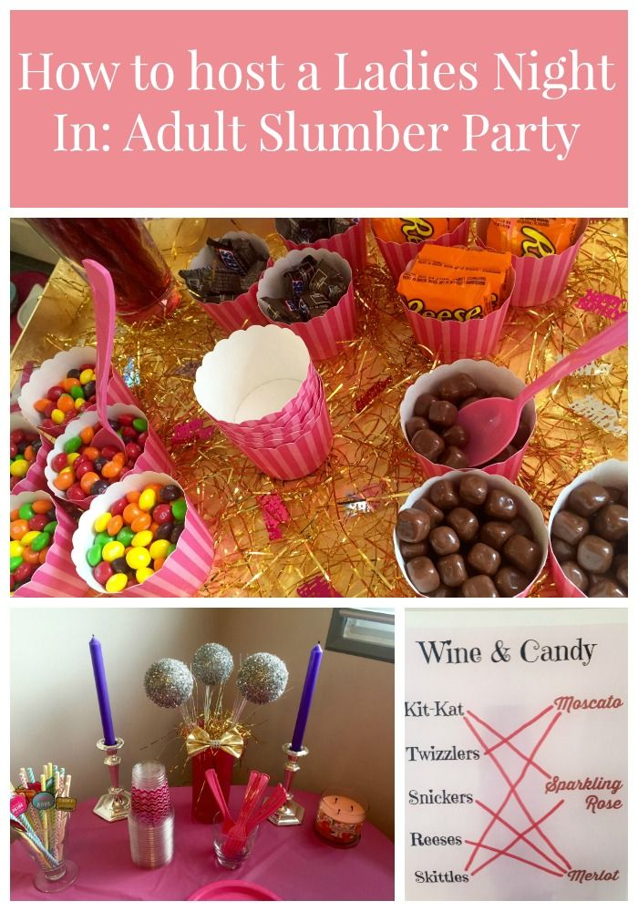 a7056799c5 Love this idea! An adult slumber party for ladies night!