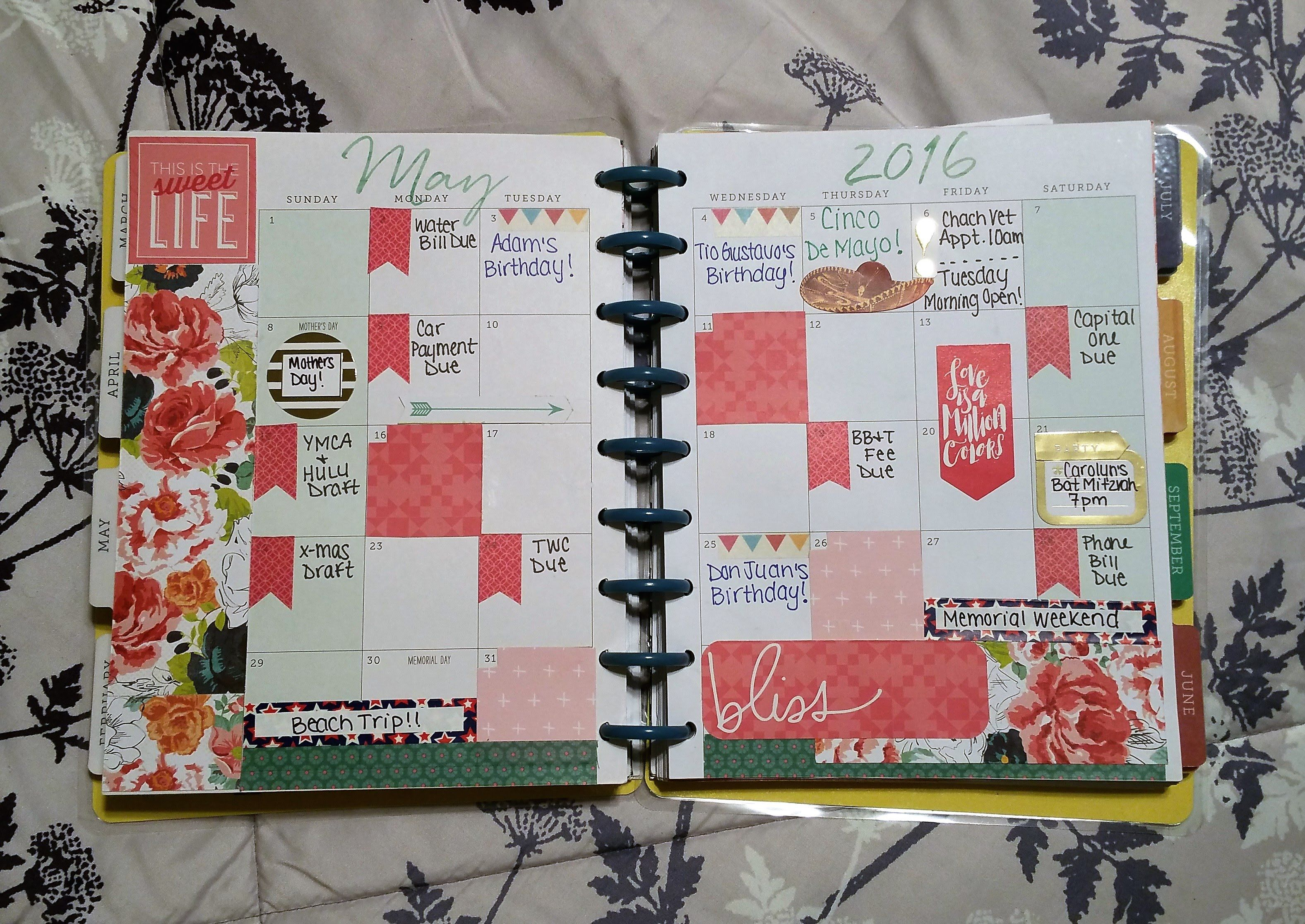May Monthly Curly Page The Hy Planner