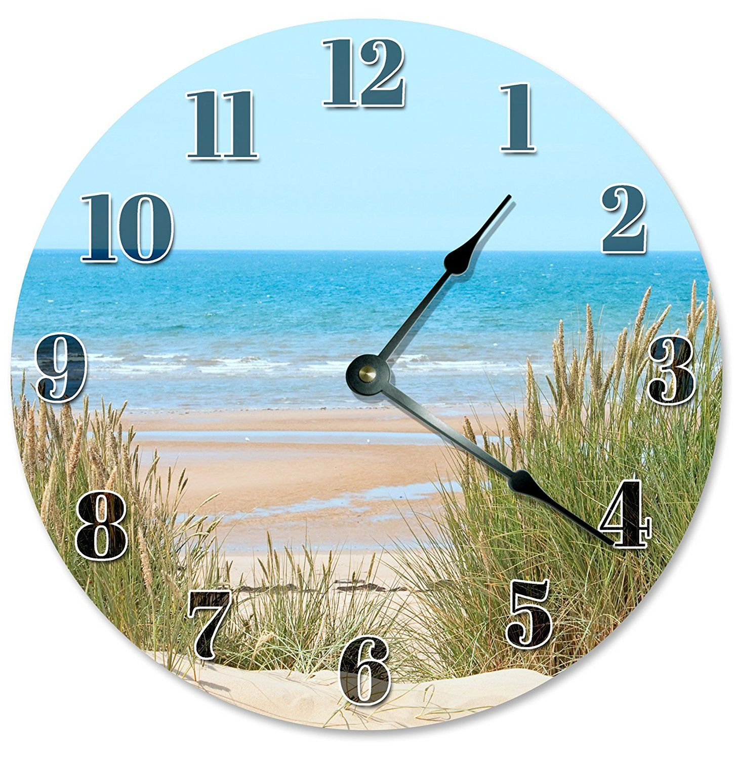 BEACH DUNES Clock Large 105 Wall Clock Decorative Round Circle