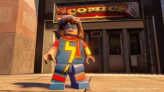 Ms Marvel in LEGO Marvels Avengers Assembles
