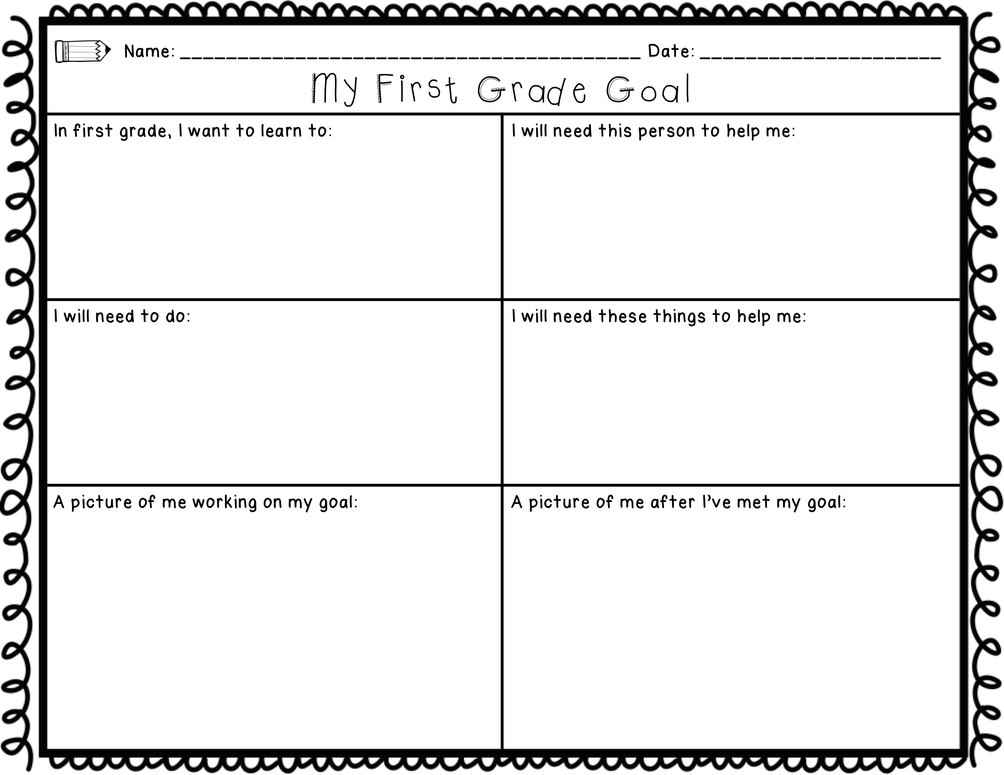 First Grade Back To School Printables Math Amp Ela