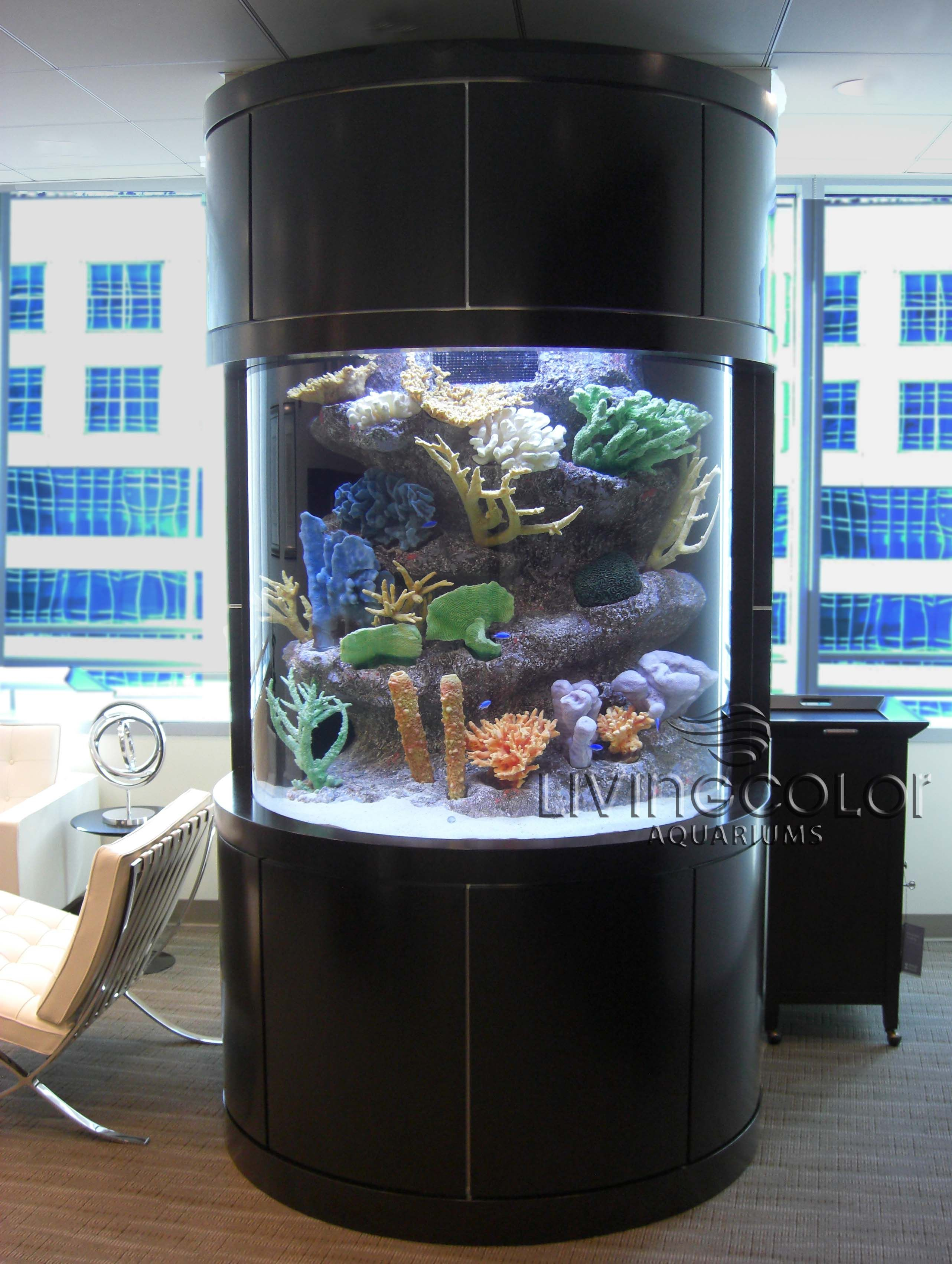 Custom Aquarium in a building Fish tank Pinterest