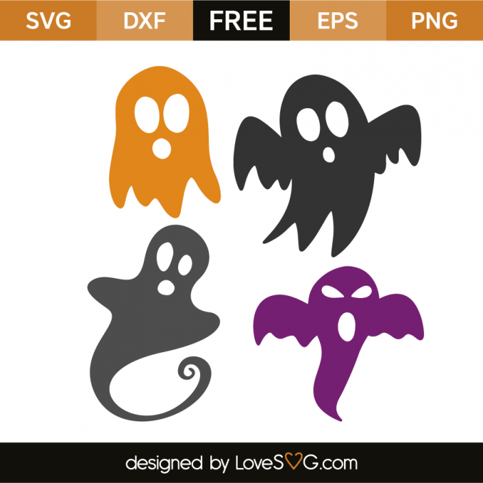 Ghosts Halloween silhouettes, Halloween shadow box, Free