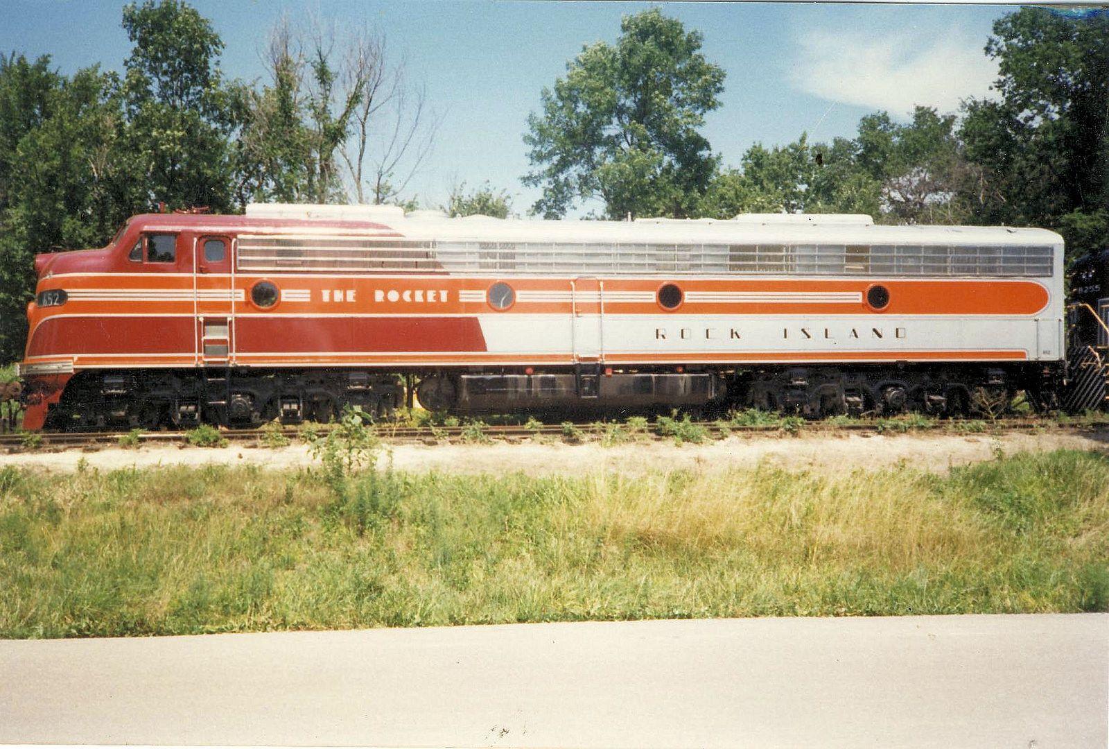 https://flic.kr/p/jA85Uo | EMD E-9 locomotive Rock Island Rocket Baldwin, KS.