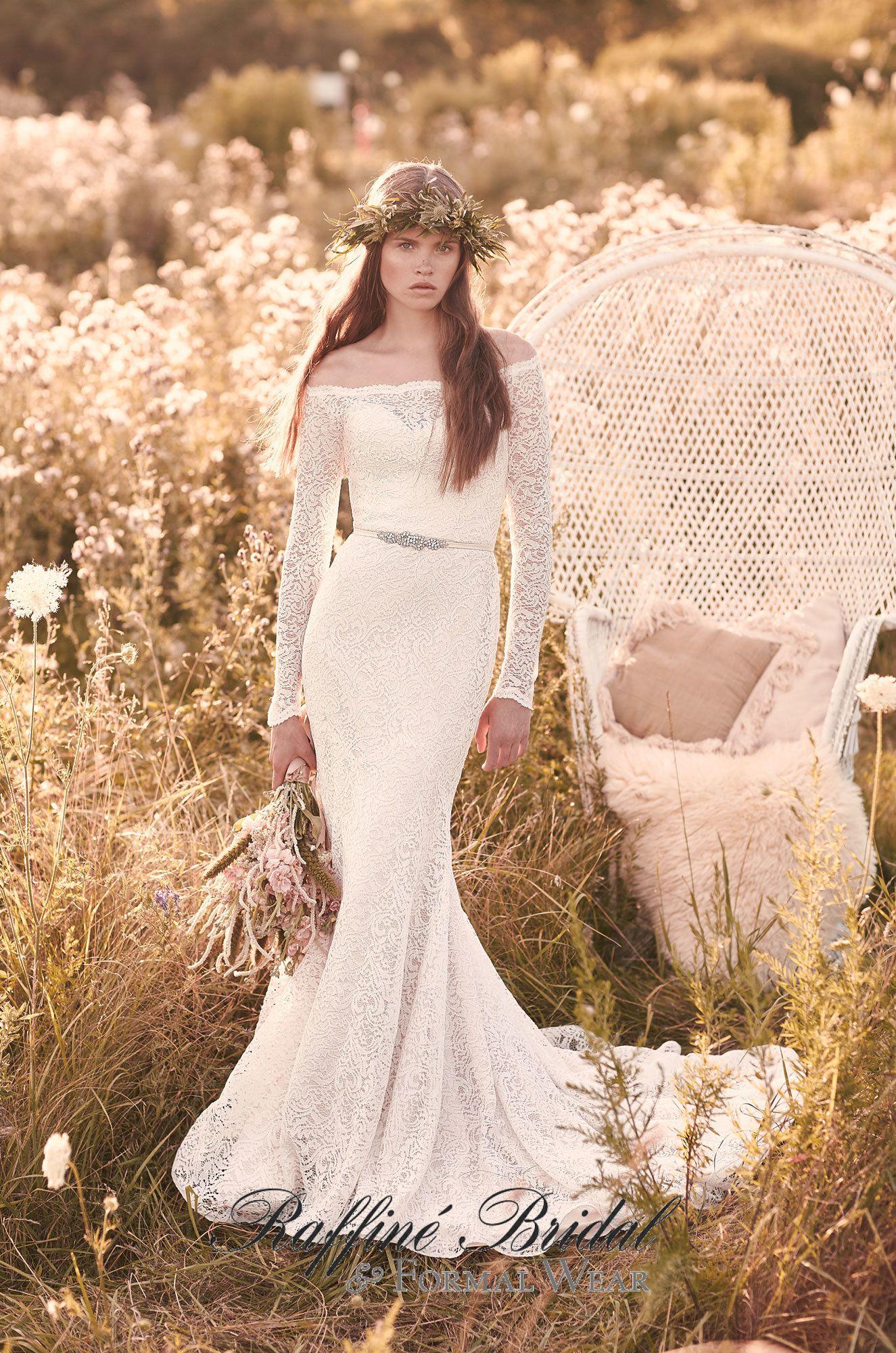 Mikaella #2055 - Mikaella Lace Wedding Dress. Off the shoulder ...