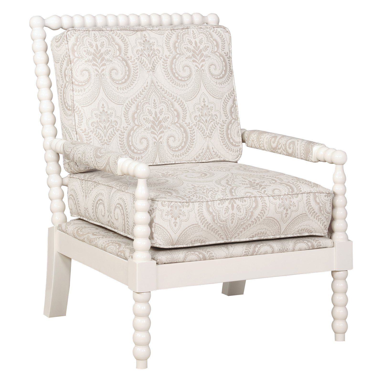 Linon Sussex Spindle Wood Frame Chair, 19.75 inch Seat