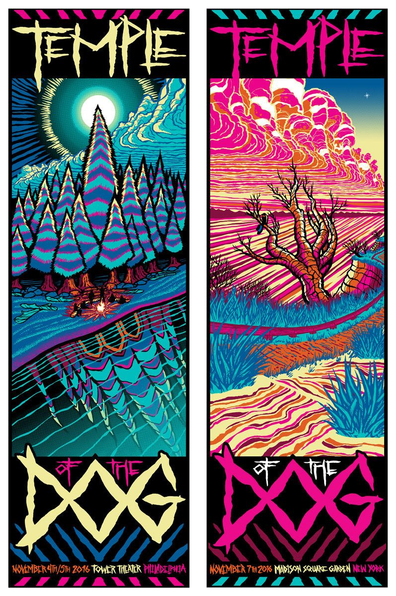 Poster design new york - Brad Klausen Temple Of The Dog Philadelphia And New York Posters Release