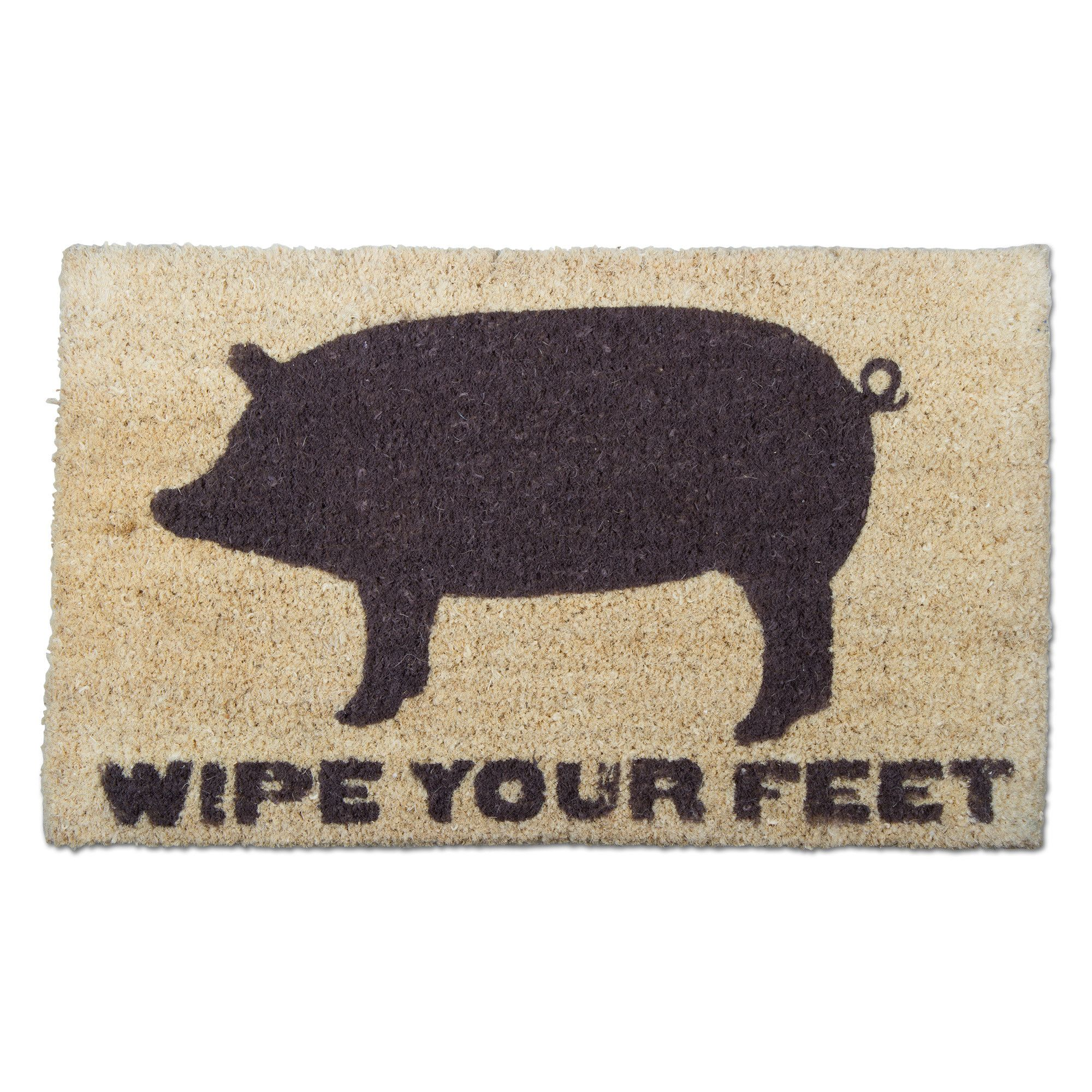 cute mat listing il fullxfull mats welcome pig doormat zoom funny outdoor