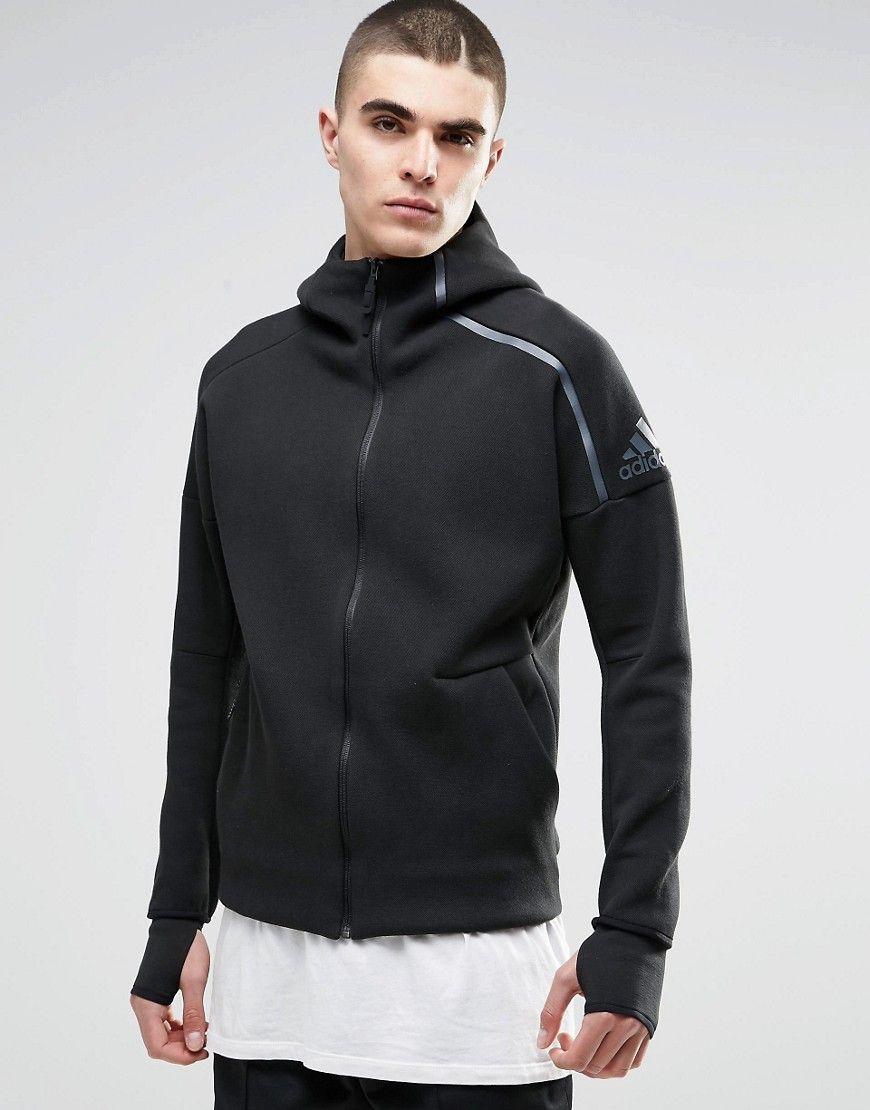 2288ec5d674 ADIDAS ORIGINALS ADIDAS TRAINING ZNE HOODIE IN BLACK B48879 - BLACK.  #adidasoriginals #cloth #