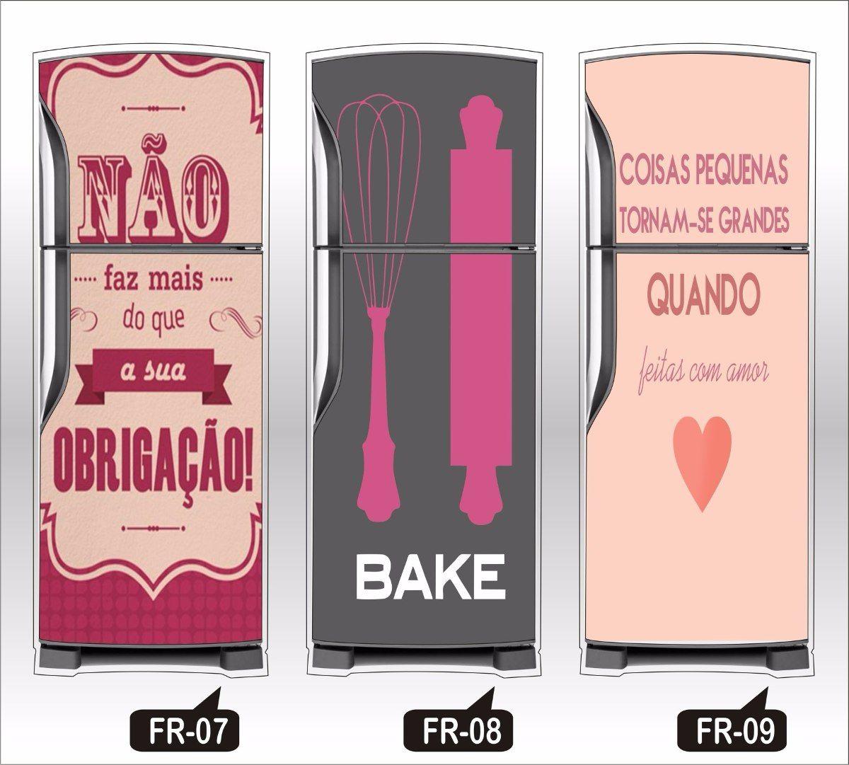 Armario Sob Medida Para Cozinha ~ adesivo de geladeira decorativos retro bebidas frutas frases adesivos Pinterest Retr u00f4 e Frases