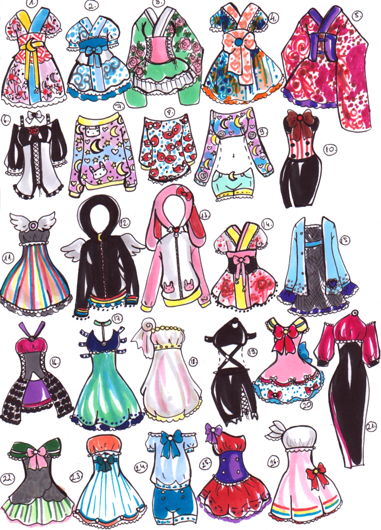 SOLD- Sailor Moon outfits by Guppie-Adopts on deviantART  Art