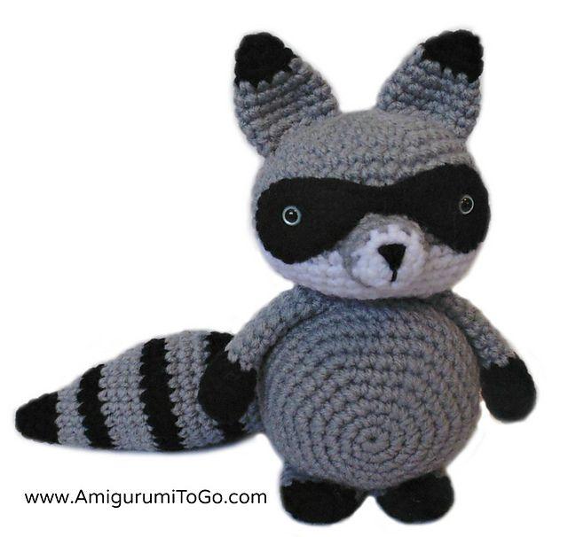 Bandit The Amigurumi Raccoon, free crochey pattern by Sharon Ojala
