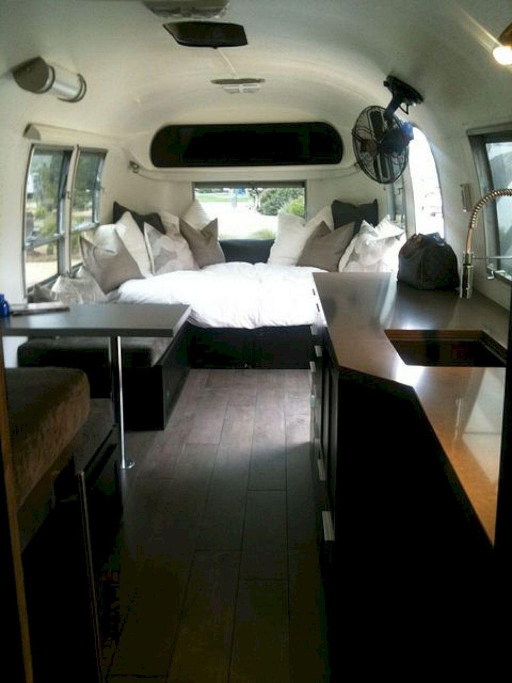 15 Stunning Airstream Trailer Hacks Remodel Makeover Ideas Freshouz Com Airstream Interior Airstream Renovation Trailer Interior