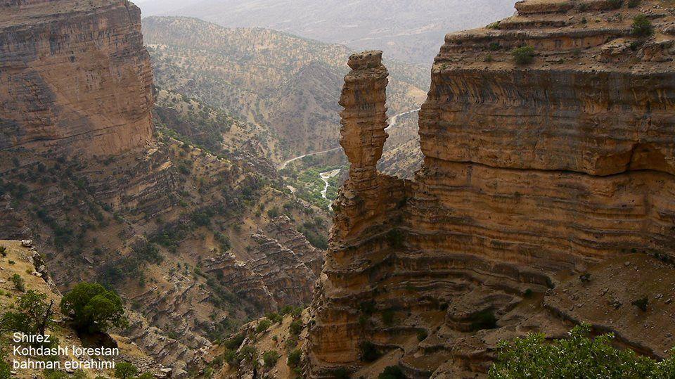 Shirz canyon, Kuhdasht, Lorestan province, Iran (in Persian: تنگه شیرز / کوهدشت / لرستان) Photo by Bahman Ebrahimi