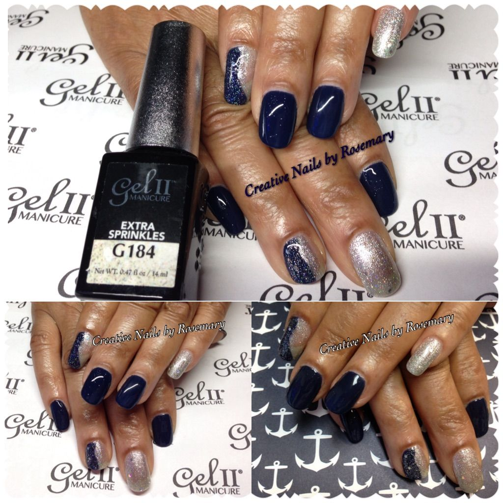 Creative Nails By Rosemary Photooftheday Geltwo Extrasprinkles Royalnavy Pretty Stylish Fashion Followme Nailpro Creative Nails Nails Natural Nails